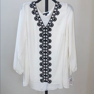 NWT  Alfani 1X plus blouse *stain in pic 'as is'